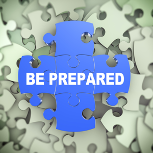 Be prepared presentation on background of puzzle pieces