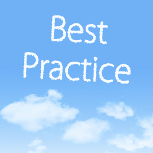 Best practice written in the clouds