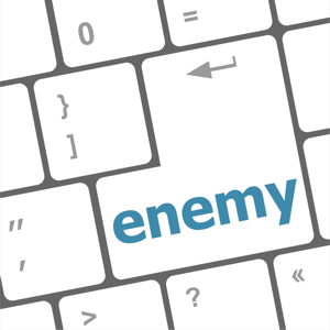 Enemy button on a computer keyboard