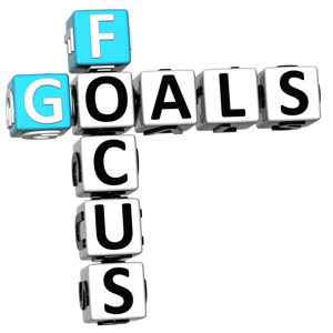 Focus goals crossword on a white background