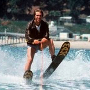 Fonzie from Happy Days Water Skiing