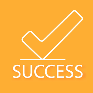 Success concept on an orange background