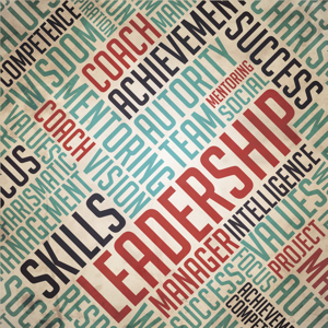 Leadership terms tag cloud