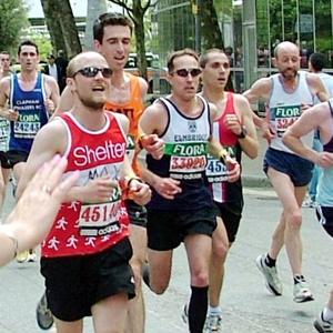 Runners taking part in a marathon