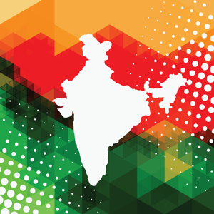 Map of India in abstract style