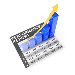 Performance report showing upward trend