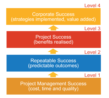 Project Management Maturity Matrix Diagram