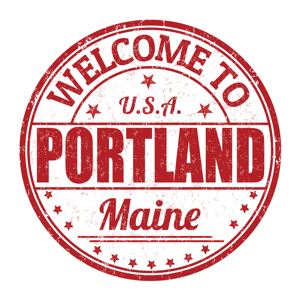 Welcome to Portland Maine rubber stamp