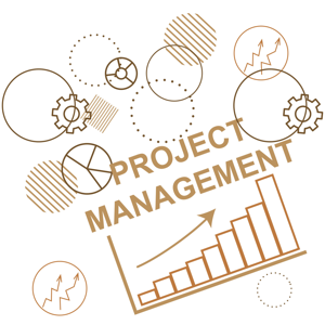 Abstract background to the project management planning process