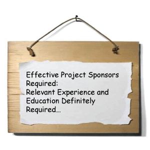 Sign advertising for project sponsors