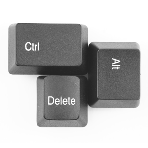 Computer keyboard keys Ctrl, Alt and Delete