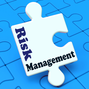 Risk management written on a puzzle piece