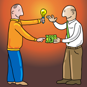 Man buying an idea