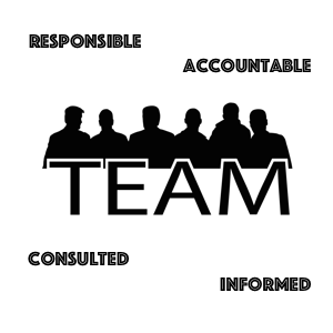 Team of people in silhouette