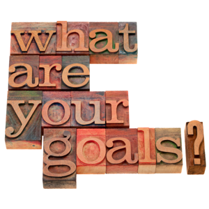 What are your goals question in vintage wooden letterpress printing blocks