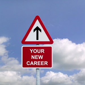 Signpost in the sky for Your New Career
